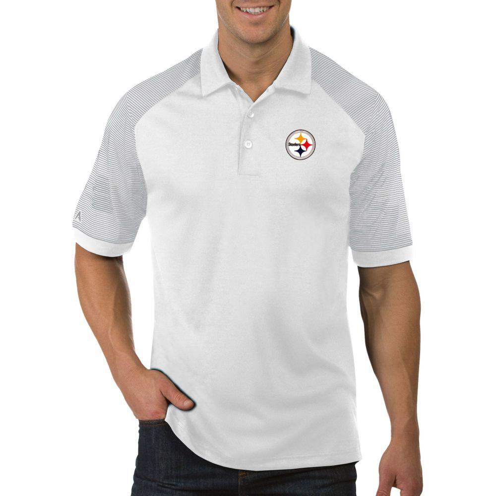 アンティグア Antigua メンズ ポロシャツ トップス【Pittsburgh Steelers Engage White Performance Polo】