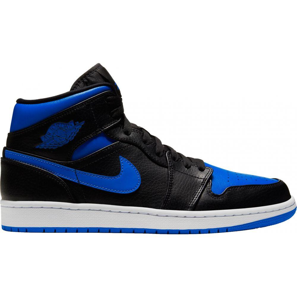 ナイキ ジョーダン Jordan メンズ バスケットボール シューズ・靴【Air 1 Mid Basketball Shoes】Black/Hyper Royal