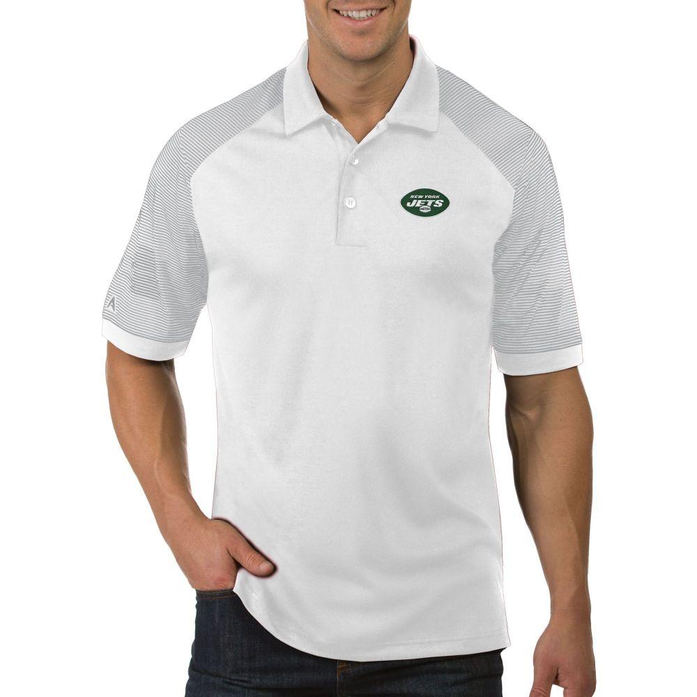 アンティグア Antigua メンズ ポロシャツ トップス【New York Jets Engage Performance White Polo】