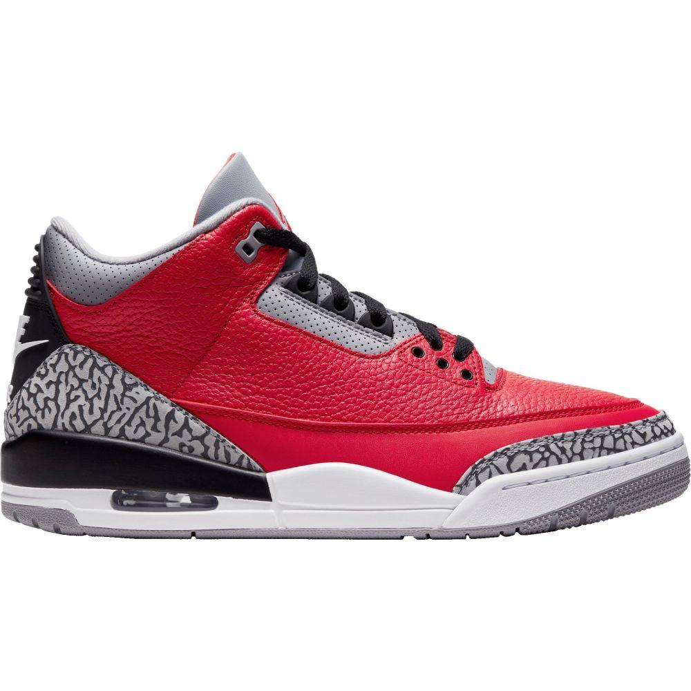 ナイキ ジョーダン Jordan メンズ バスケットボール シューズ・靴【Air Retro 3 Basketball Shoes】Red/Grey/Black