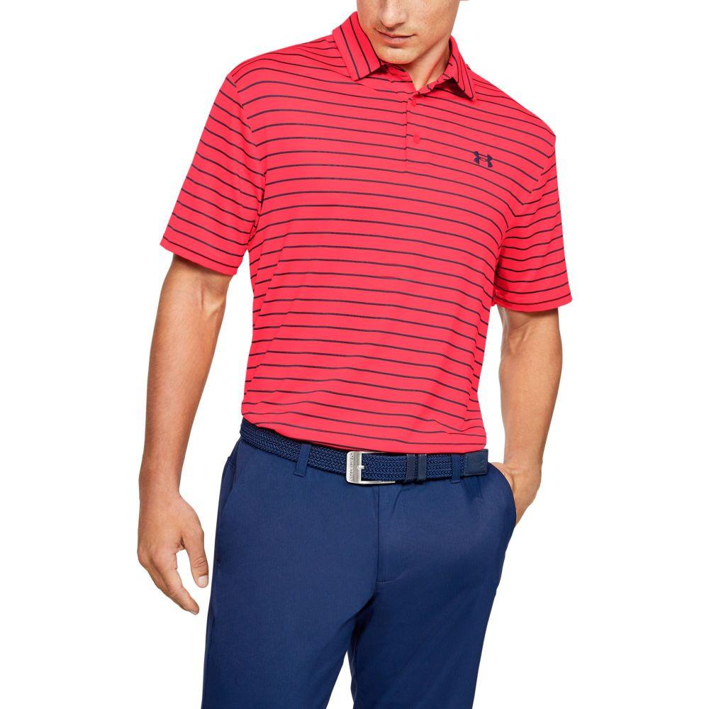 アンダーアーマー Under Armour メンズ ゴルフ トップス【Playoff 2.0 Tour Stripe Golf Polo】Academy