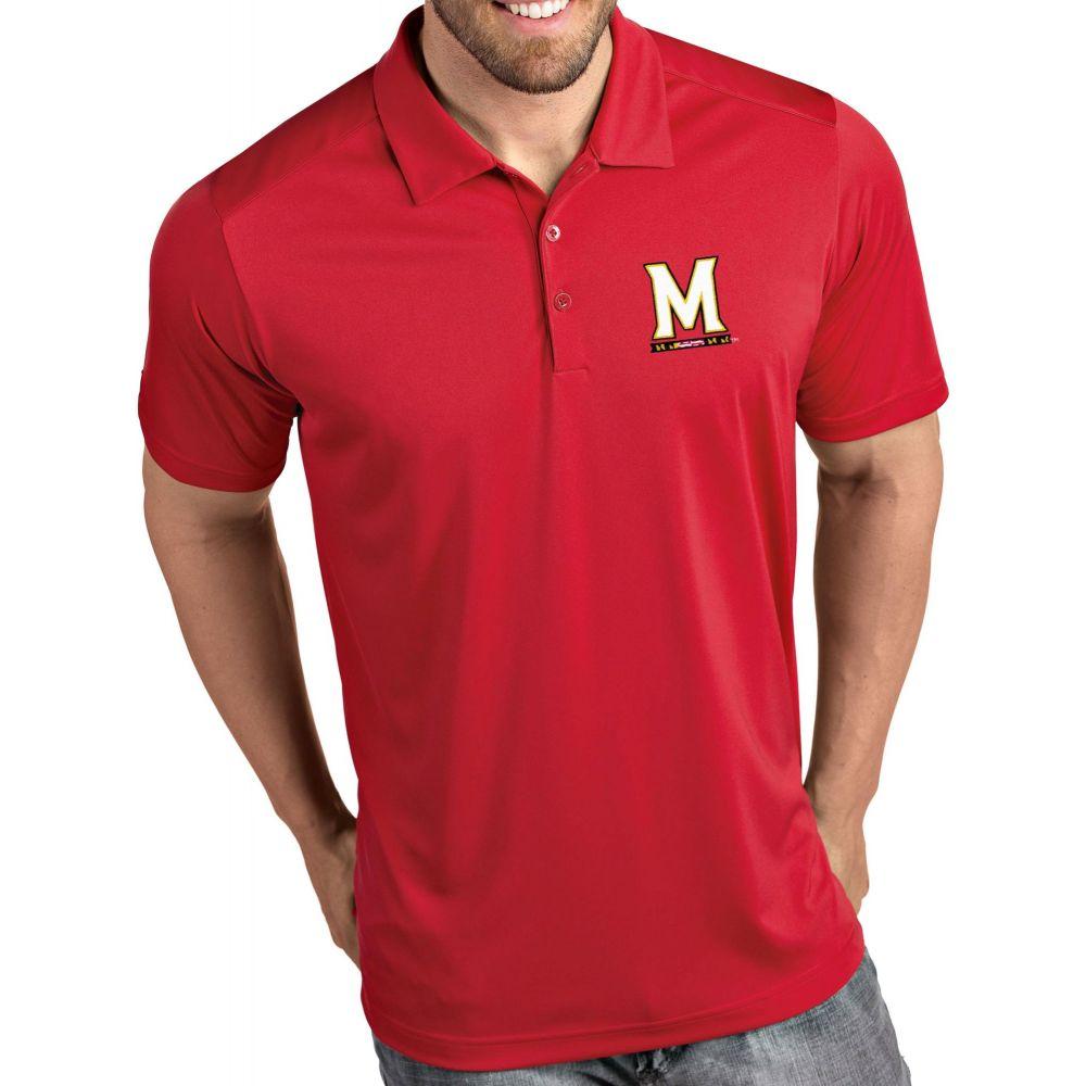 アンティグア Antigua メンズ ポロシャツ トップス【Maryland Terrapins Red Tribute Performance Polo】