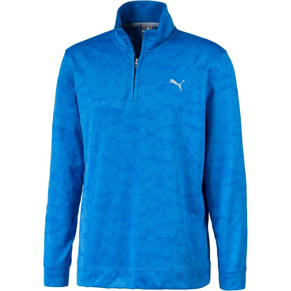 プーマ PUMA メンズ ゴルフ トップス【Alterknit Camo 1/4 Zip Golf Pullover】Ibiza Blue