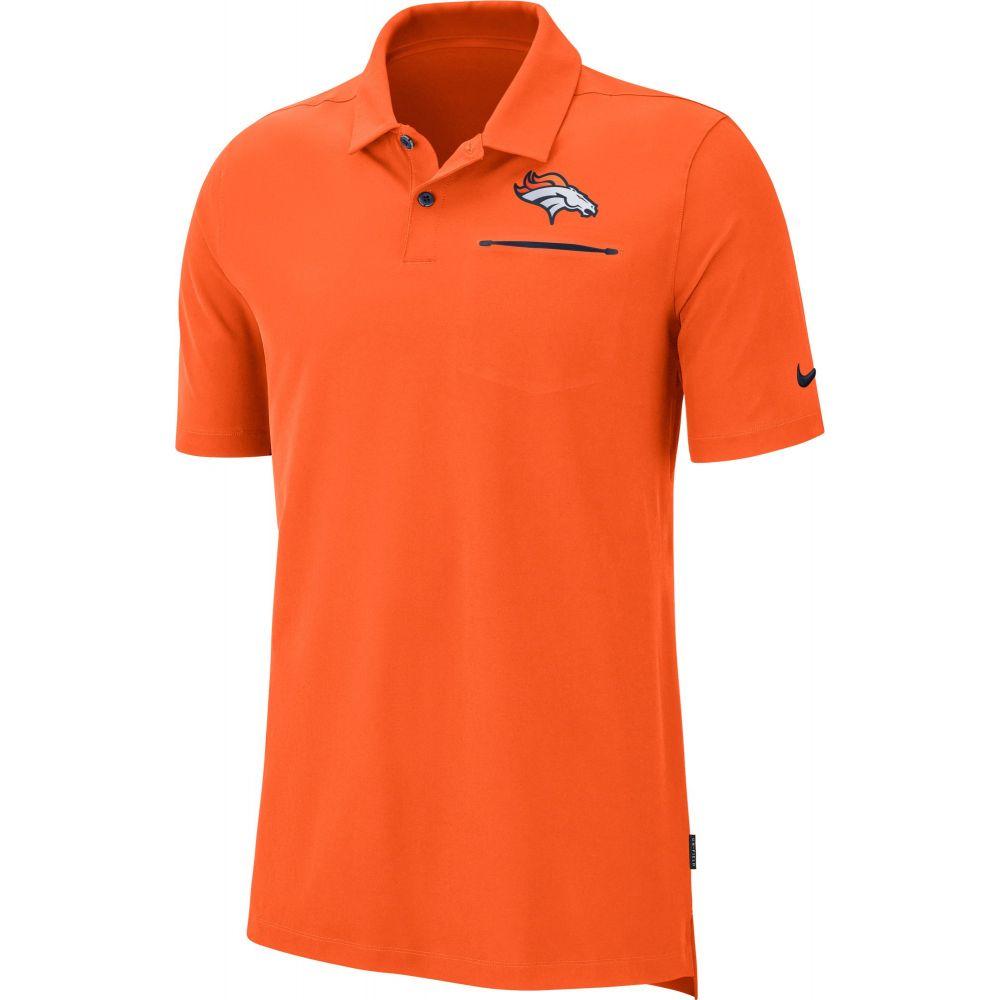 ナイキ Nike メンズ ポロシャツ トップス【Denver Broncos Sideline Elite Performance Orange Polo】