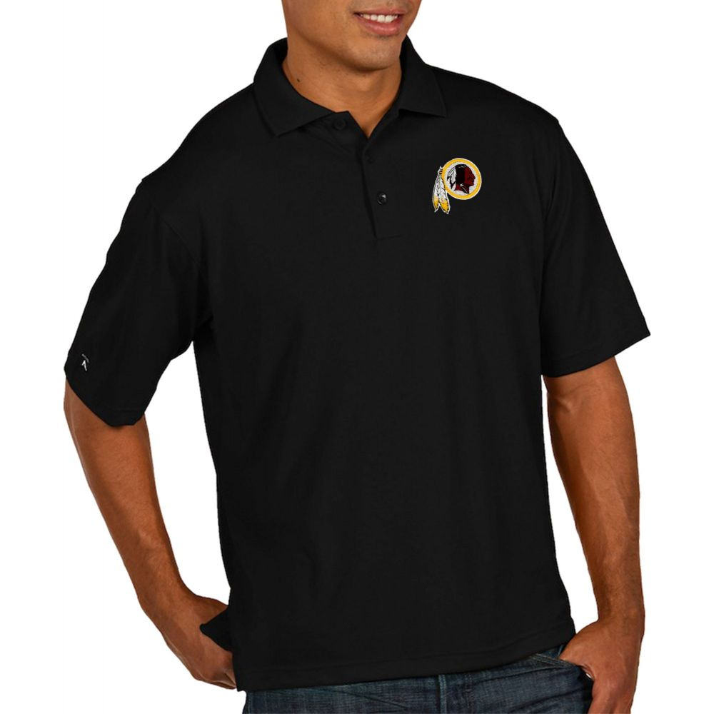 アンティグア Antigua メンズ ポロシャツ トップス【Washington Redskins Pique Xtra-Lite Performance Black Polo】