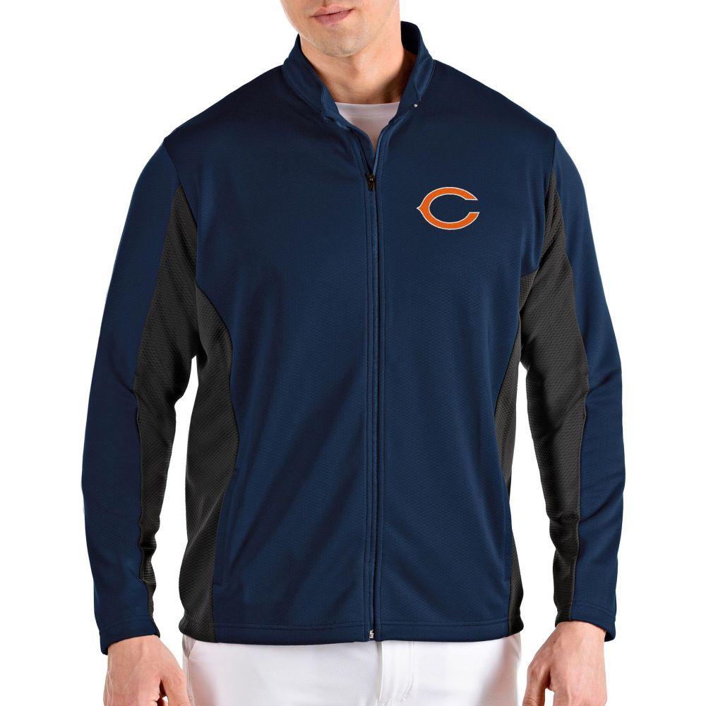 アンティグア Antigua メンズ ジャケット アウター【Chicago Bears Passage Navy Full-Zip Jacket】