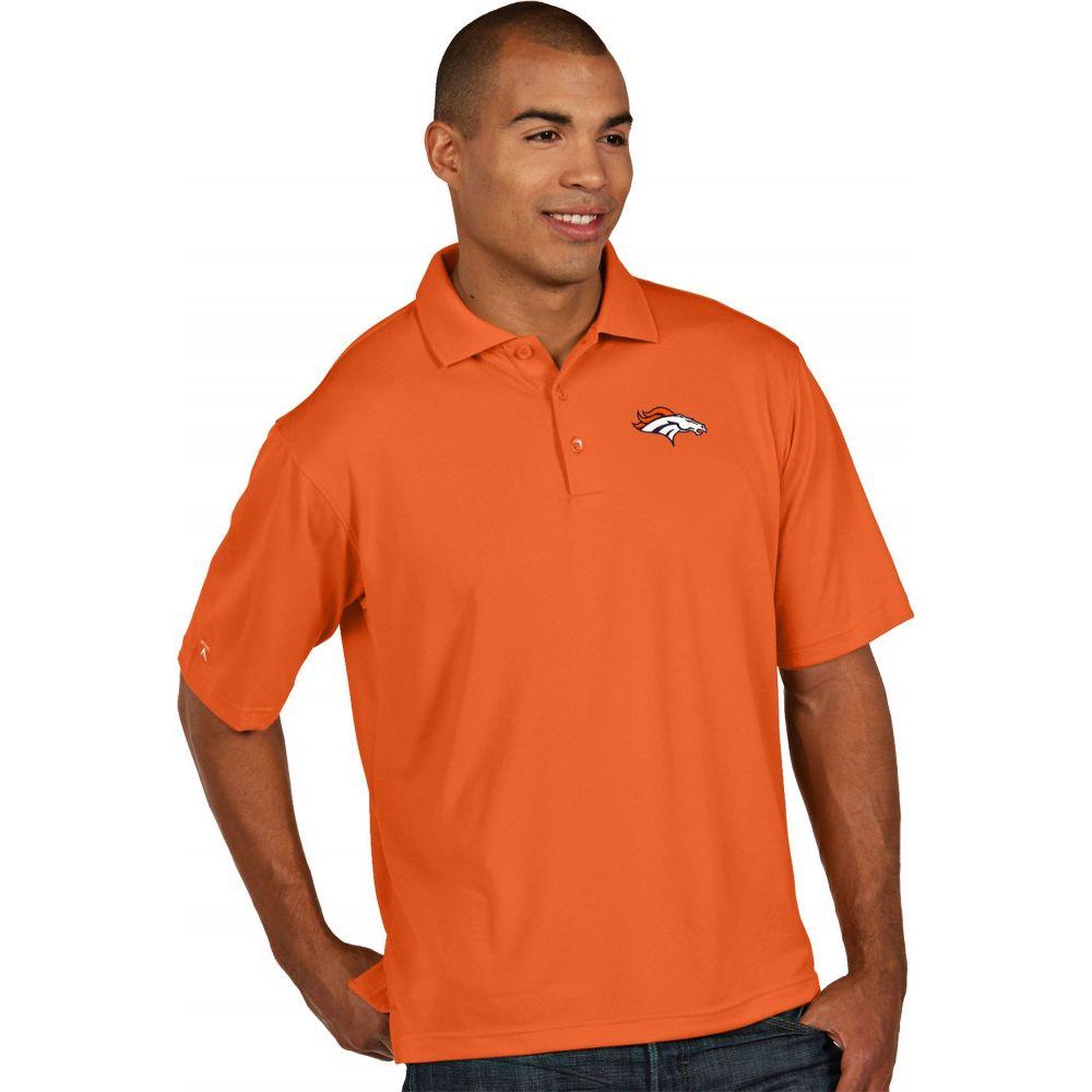 アンティグア Antigua メンズ ポロシャツ トップス【Denver Broncos Pique Xtra-Lite Orange Polo】