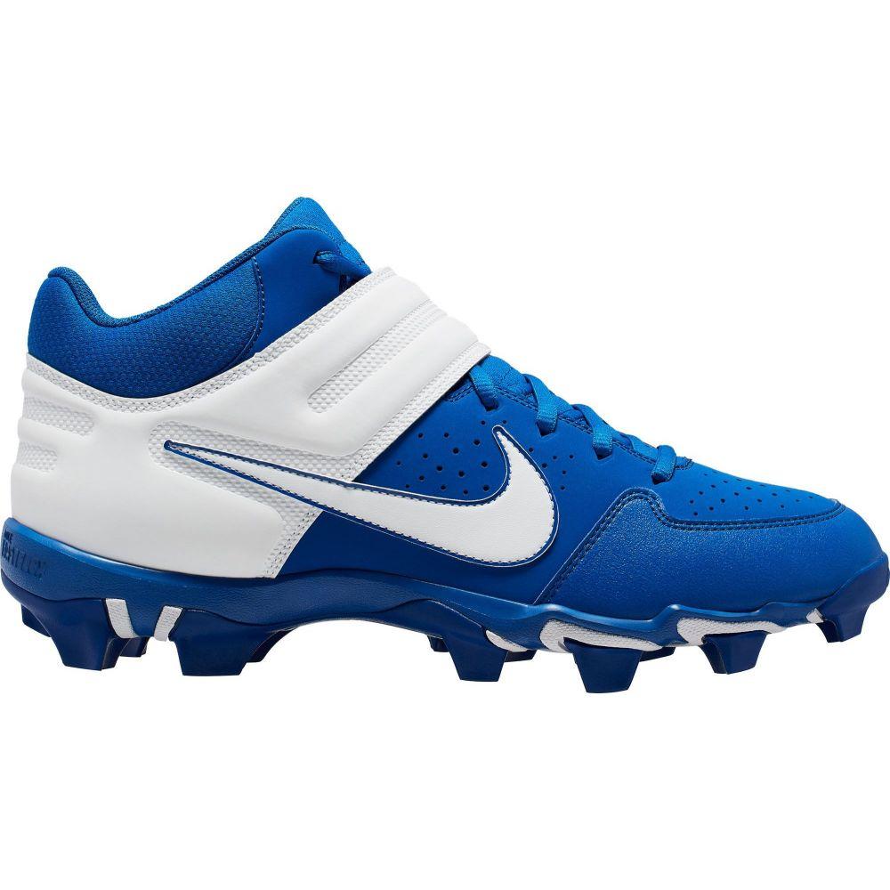 ナイキ Nike メンズ 野球 スパイク シューズ・靴【Alpha Huarache Varsity Keystone Mid Baseball Cleats】Royal/White