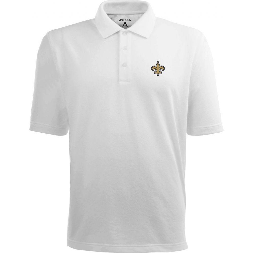 アンティグア Antigua メンズ ポロシャツ トップス【New Orleans Saints Pique Xtra-Lite White Polo】