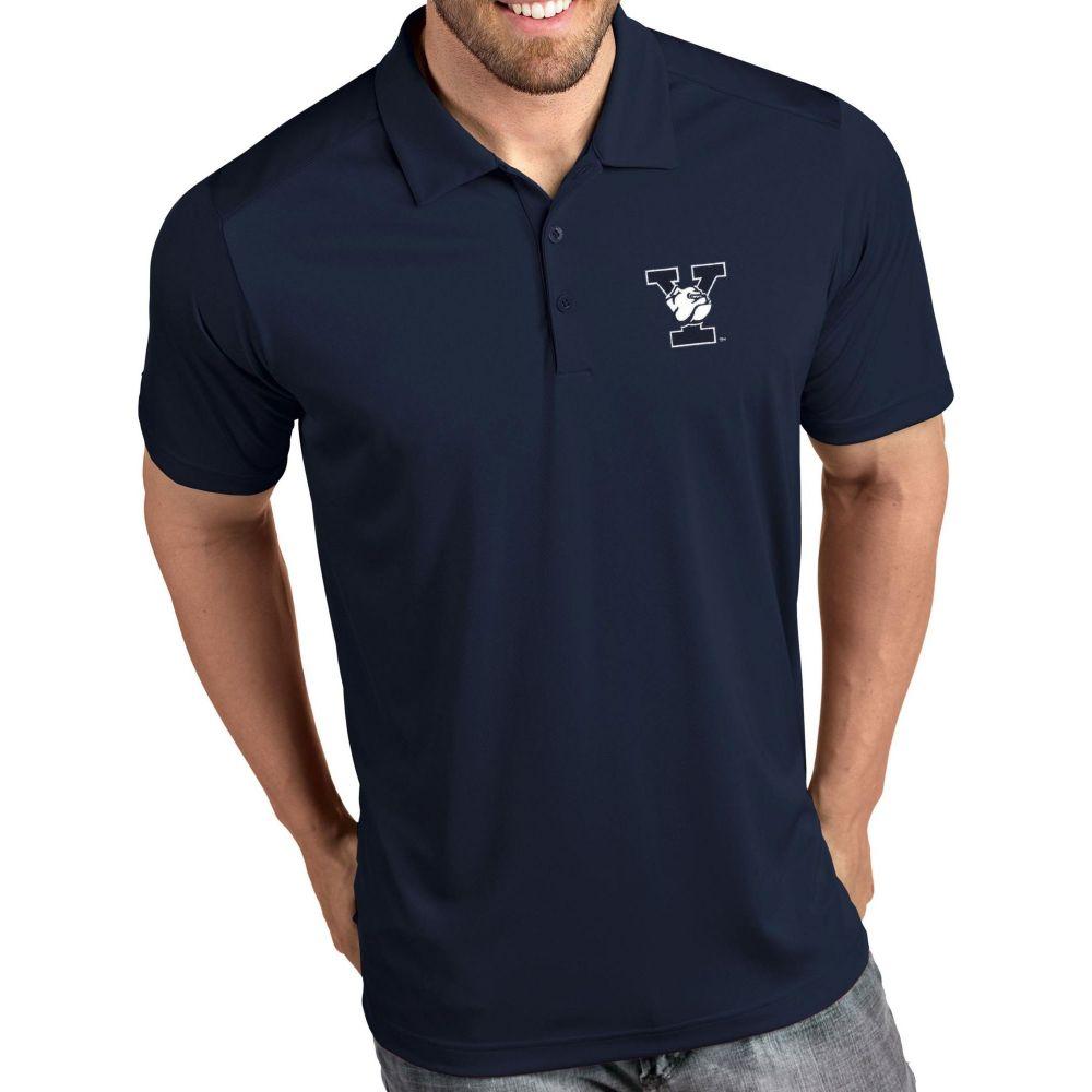 アンティグア Antigua メンズ ポロシャツ トップス【Yale Bulldogs Yale Blue Tribute Performance Polo】