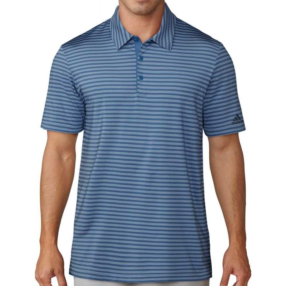 アディダス adidas メンズ ゴルフ ポロシャツ トップス【Ultimate365 2-Color Stripe Golf Polo】Ash Blue/Navy