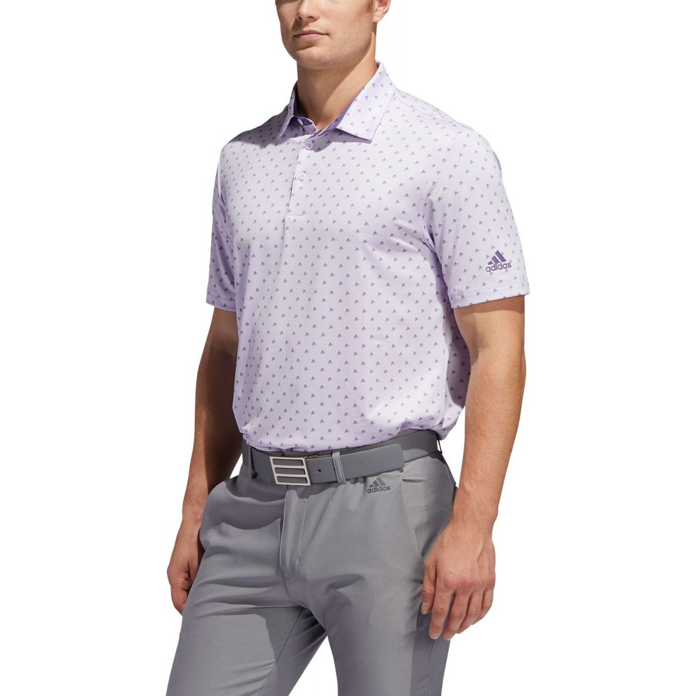 アディダス adidas メンズ ゴルフ ポロシャツ トップス【Ultimate365 Logo Golf Polo】Purple Tint/Grey Three