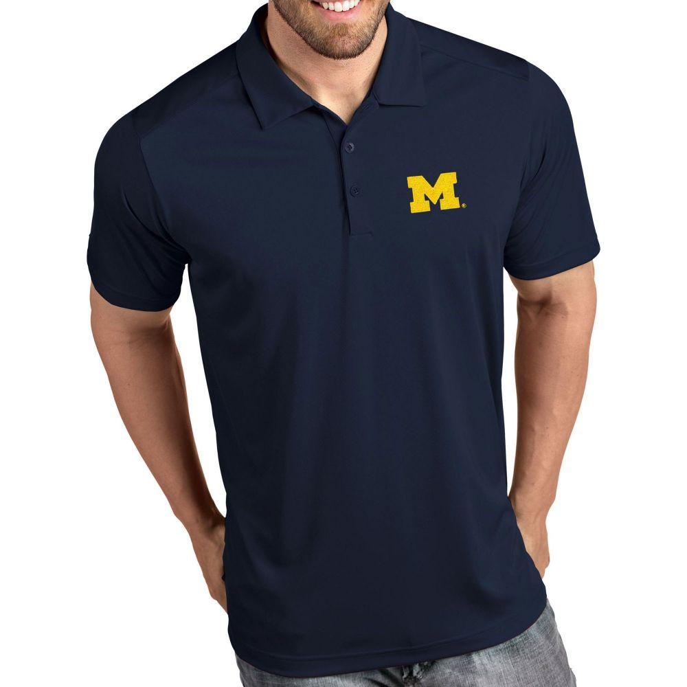 アンティグア Antigua メンズ ポロシャツ トップス【Michigan Wolverines Blue Tribute Performance Polo】