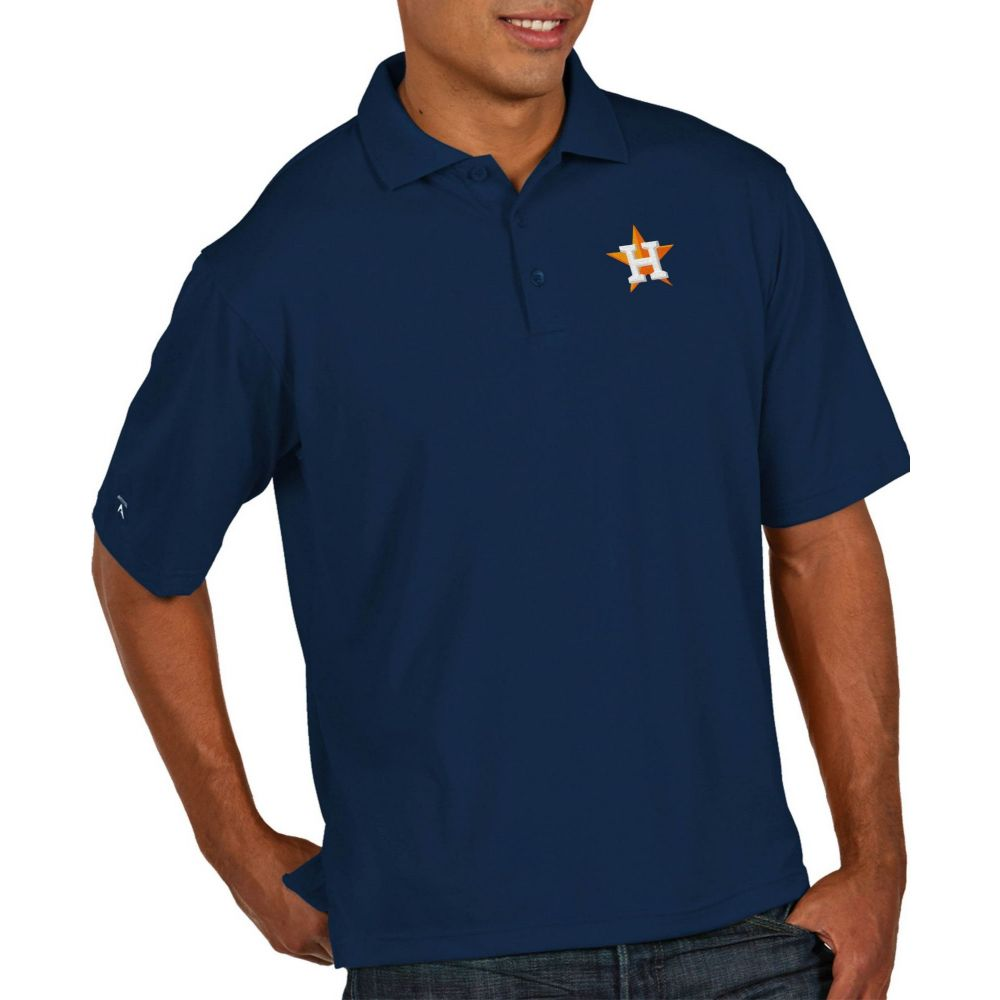 アンティグア Antigua メンズ ポロシャツ トップス【Houston Astros Pique Navy Performance Polo】