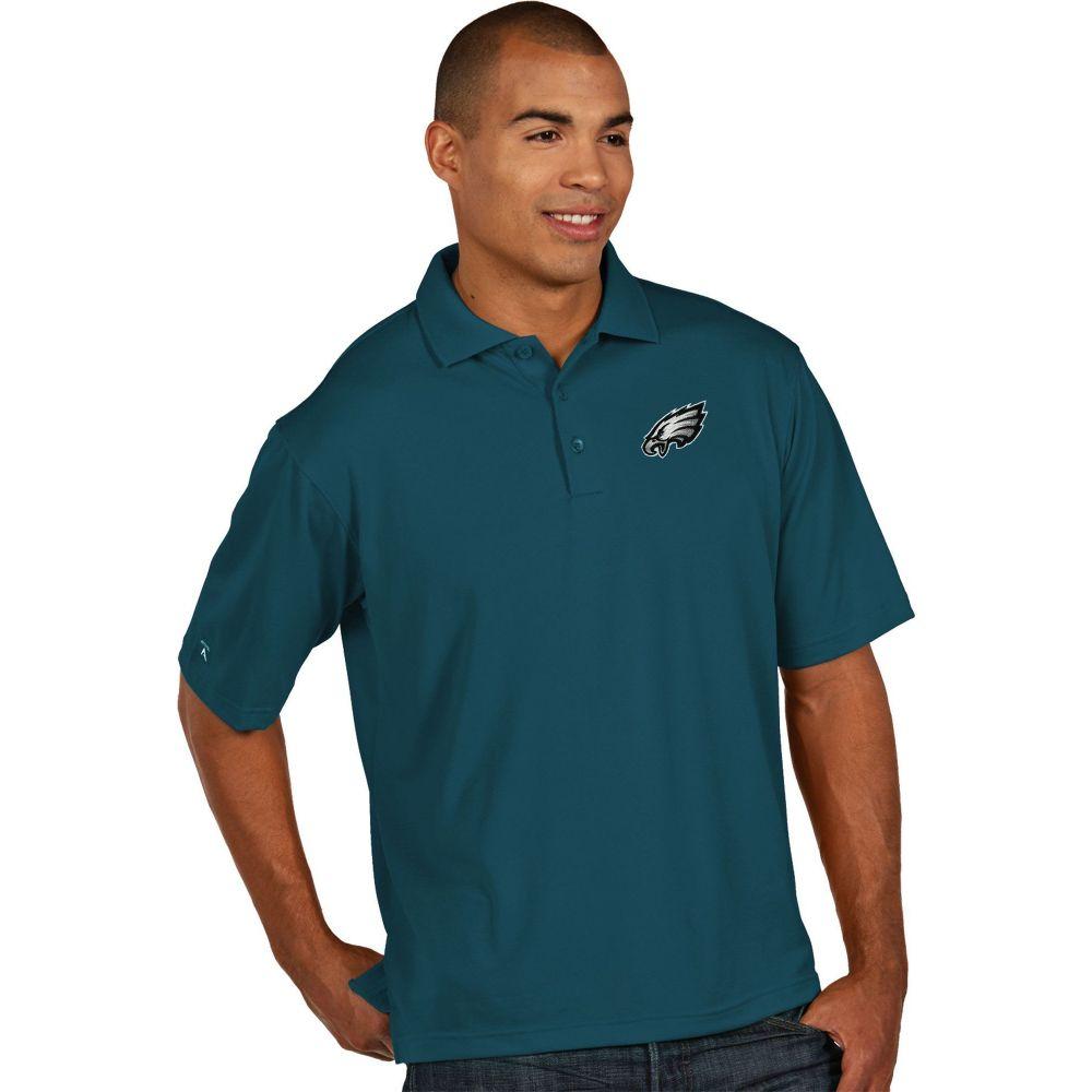 アンティグア Antigua メンズ ポロシャツ トップス【Philadelphia Eagles Pique Xtra-Lite Teal Polo】