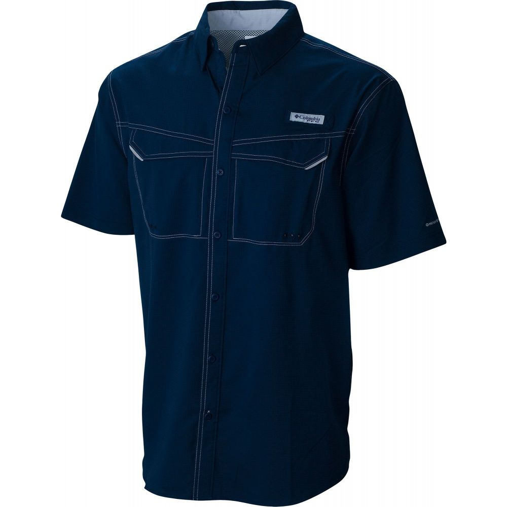 コロンビア Columbia メンズ トップス 【PFG Low Drag Offshore Short Sleeve Shirt】Collegiate Navy
