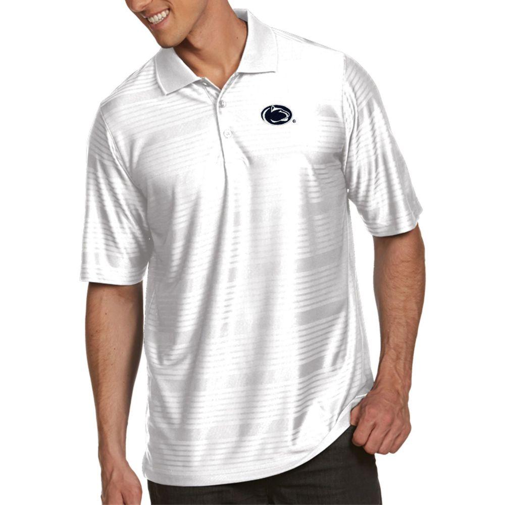 アンティグア Antigua メンズ ポロシャツ トップス【Penn State Nittany Lions White Illusion Polo】