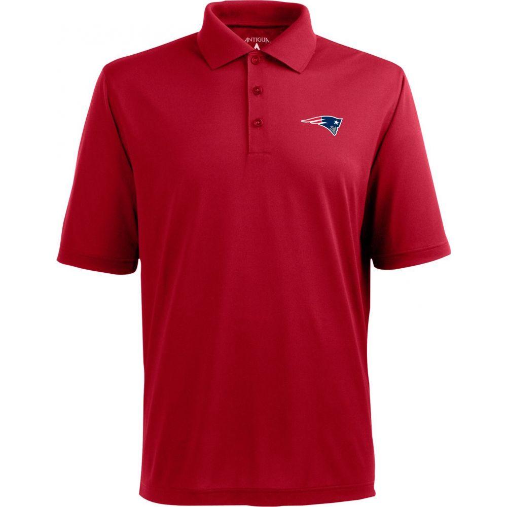 アンティグア Antigua メンズ ポロシャツ トップス【New England Patriots Pique Xtra-Lite Red Polo】