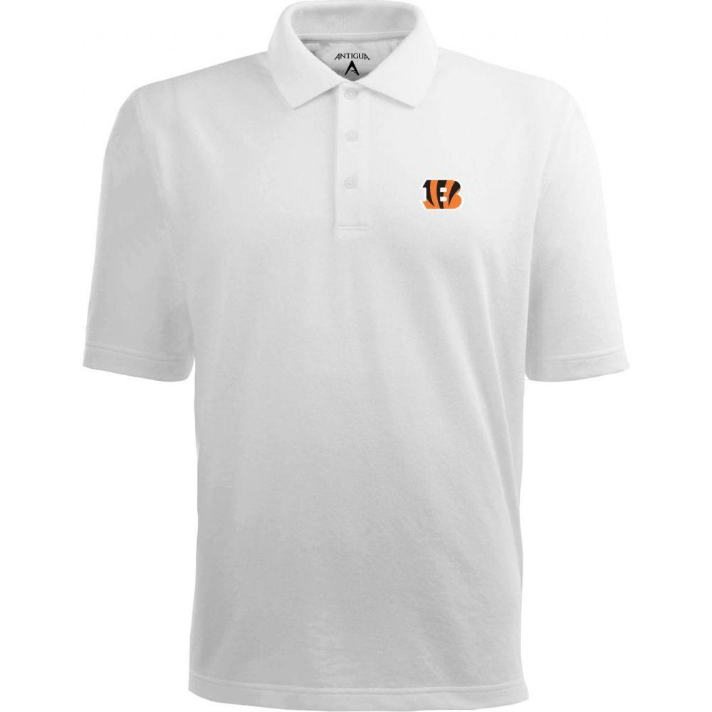 アンティグア Antigua メンズ ポロシャツ トップス【Cincinnati Bengals Pique Xtra-Lite White Polo】