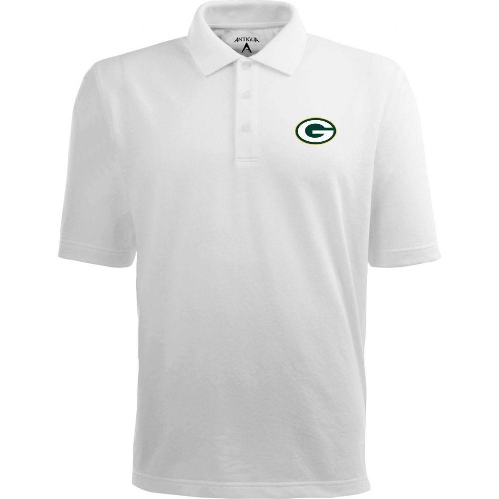 アンティグア Antigua メンズ ポロシャツ トップス【Green Bay Packers Pique Xtra-Lite White Polo】