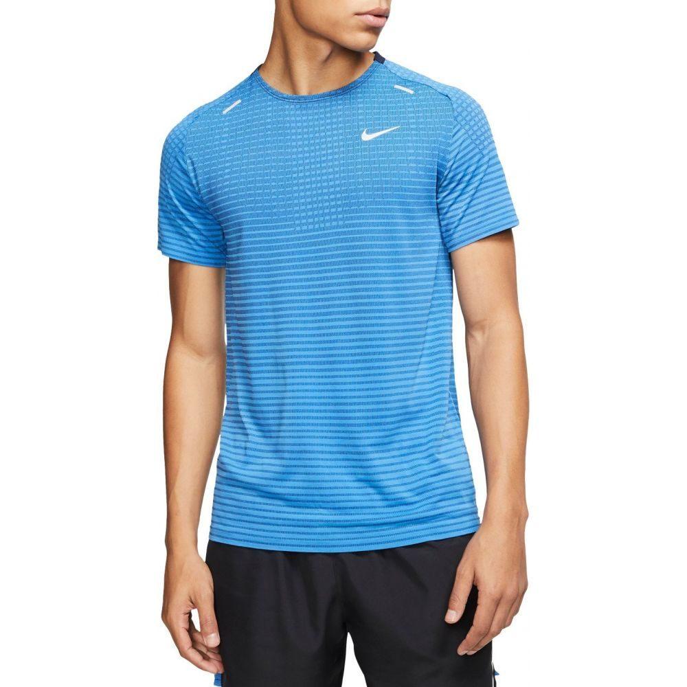 ナイキ Nike メンズ ランニング・ウォーキング トップス【TechKnit Short Sleeve Running T-Shirt】Pacific Blue