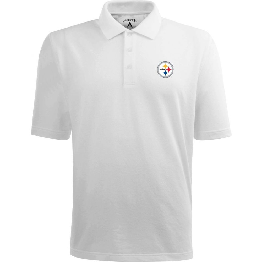 アンティグア Antigua メンズ ポロシャツ トップス【Pittsburgh Steelers Pique Xtra-Lite White Polo】