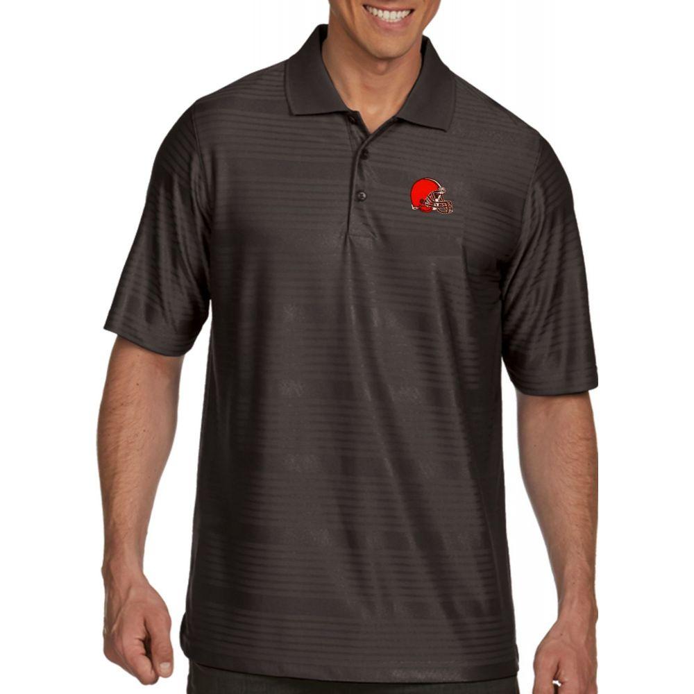 アンティグア Antigua メンズ ポロシャツ トップス【Cleveland Browns Illusion Grey Xtra-Lite Polo】