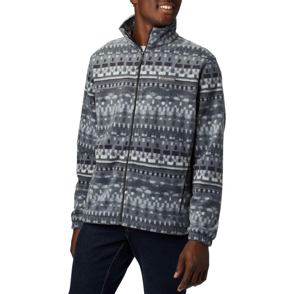 コロンビア Columbia メンズ フリース マウンテンジャケット トップス【Steens Mountain Printed Fleece Jacket】Black Classic Retro