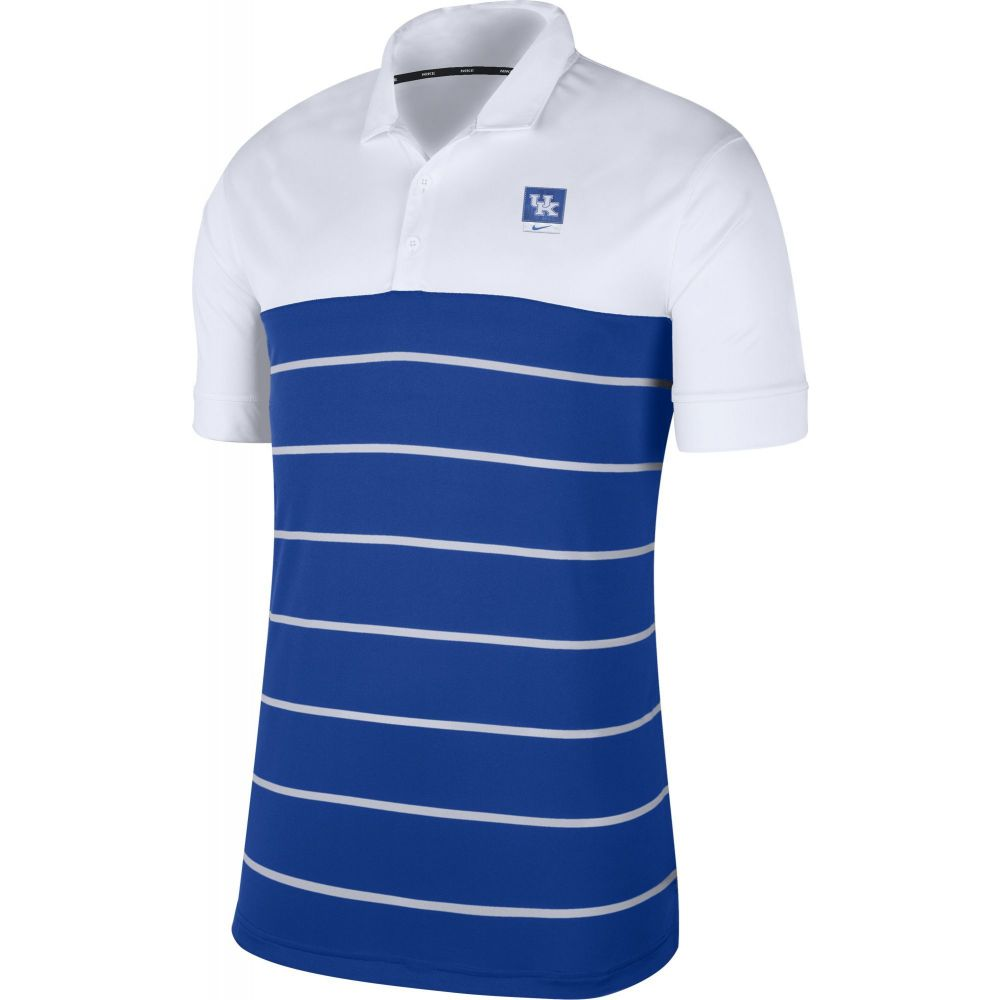 ナイキ Nike メンズ ポロシャツ トップス【Kentucky Wildcats White/Blue Striped Polo】