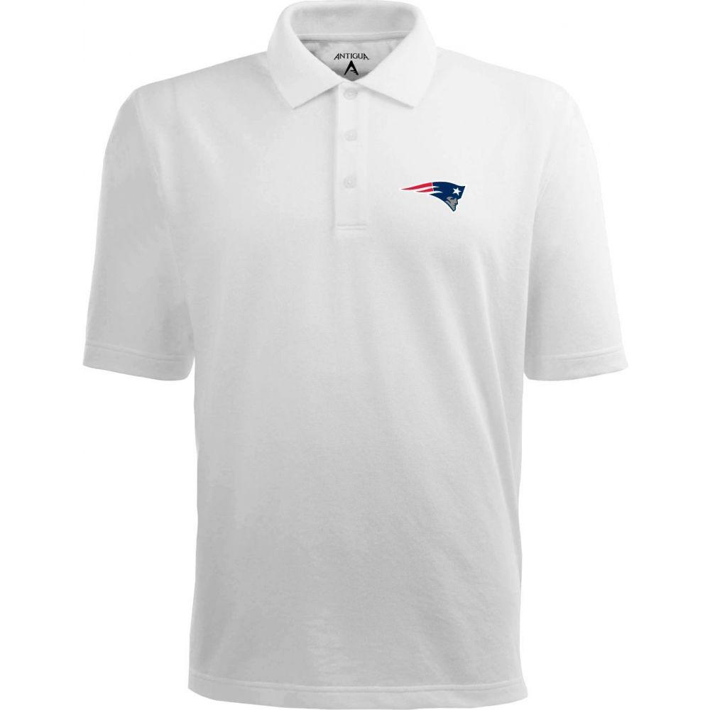 アンティグア Antigua メンズ ポロシャツ トップス【New England Patriots Pique Xtra-Lite White Polo】