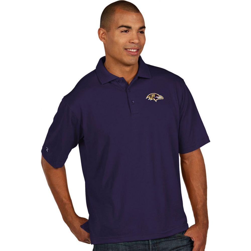アンティグア Antigua メンズ ポロシャツ トップス【Baltimore Ravens Pique Xtra-Lite Purple Polo】