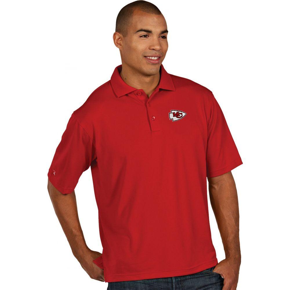 アンティグア Antigua メンズ ポロシャツ トップス【Kansas City Chiefs Pique Xtra-Lite Red Polo】