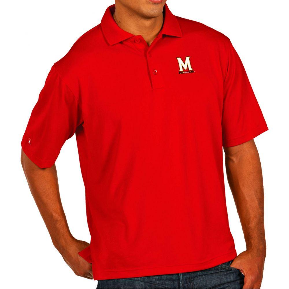 アンティグア Antigua メンズ ポロシャツ トップス【Maryland Terrapins Red Pique Xtra-Lite Polo】
