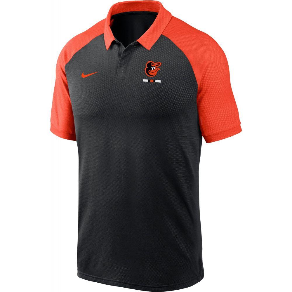 ナイキ Nike メンズ ポロシャツ ラグラン トップス【Baltimore Orioles Black Dri-FIT Legacy Raglan Polo】