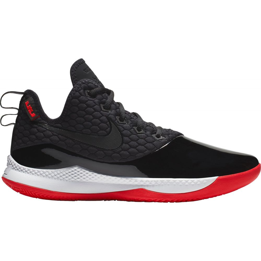 ナイキ Nike メンズ バスケットボール シューズ・靴【LeBron Witness III PRM Basketball Shoes】Black/White/Red
