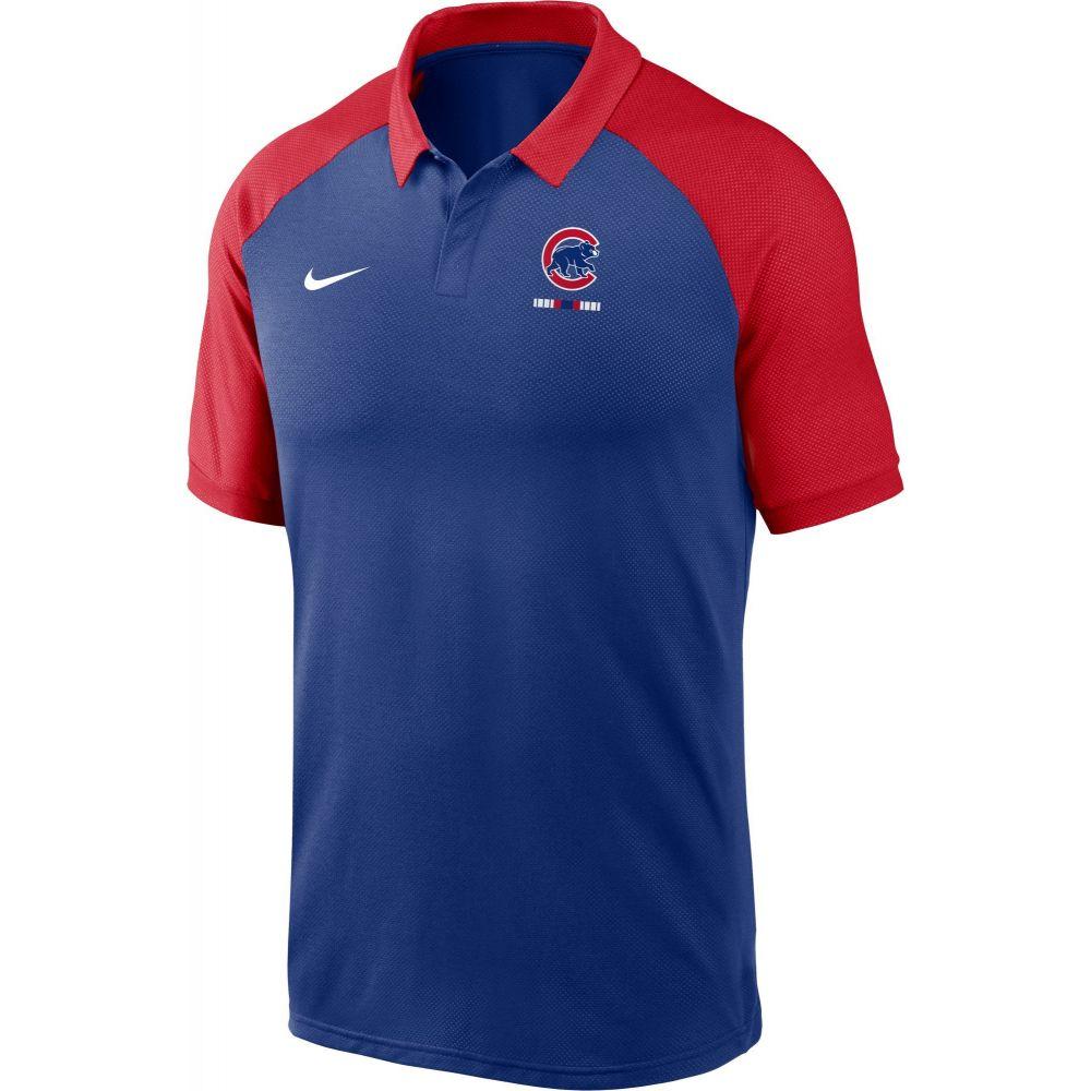 ナイキ Nike メンズ ポロシャツ ラグラン トップス【Chicago Cubs Blue Dri-FIT Legacy Raglan Polo】