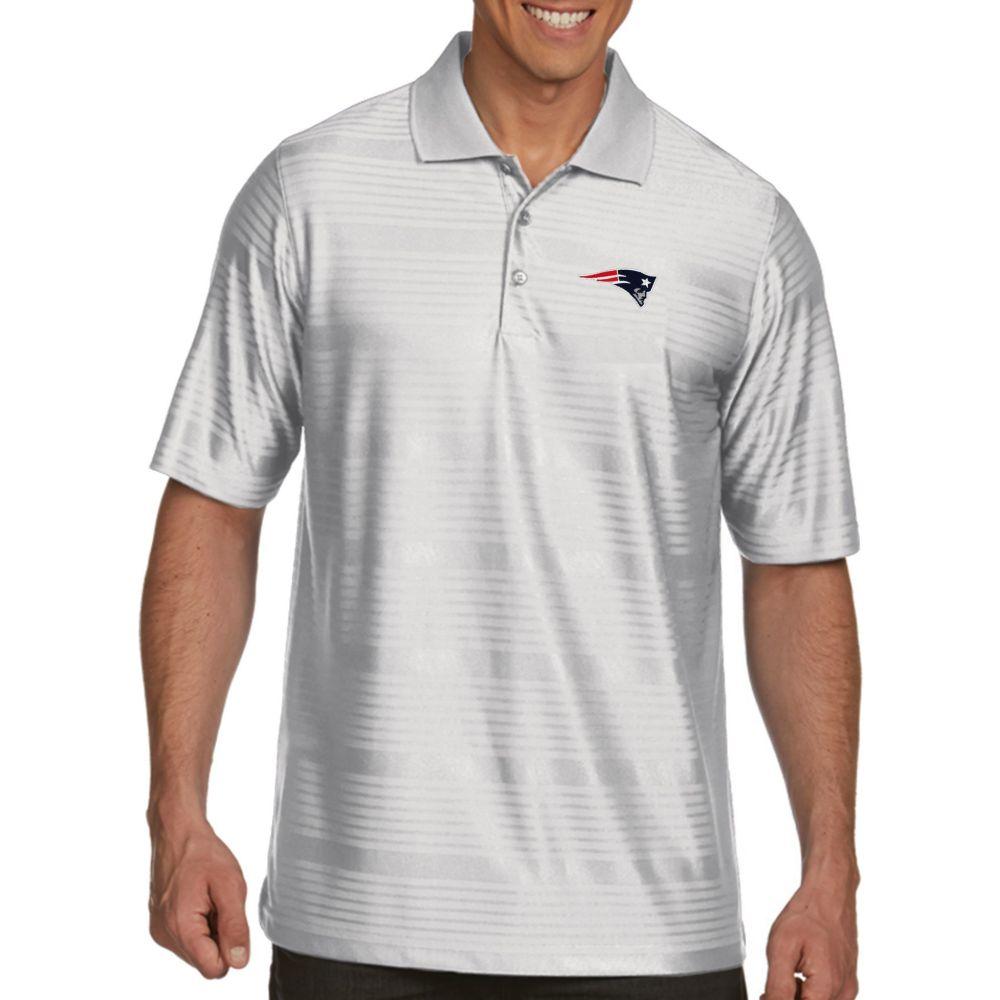 アンティグア Antigua メンズ ポロシャツ トップス【New England Patriots Illusion White Xtra-Lite Polo】