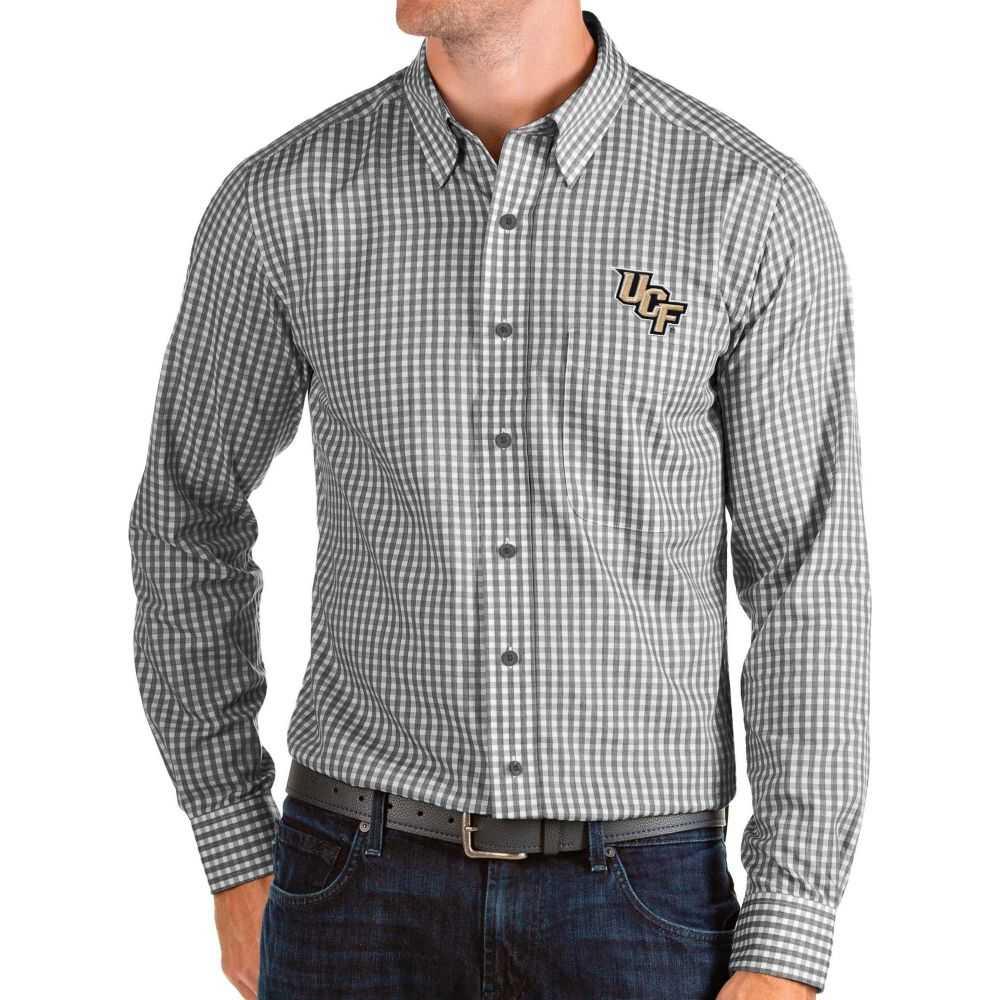 アンティグア Antigua メンズ シャツ トップス【UCF Knights Structure Button Down Long Sleeve Black Shirt】
