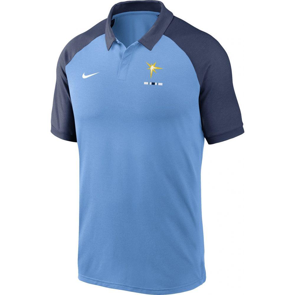 ナイキ Nike メンズ ポロシャツ ラグラン トップス【Tampa Bay Rays Blue Dri-FIT Legacy Raglan Polo】
