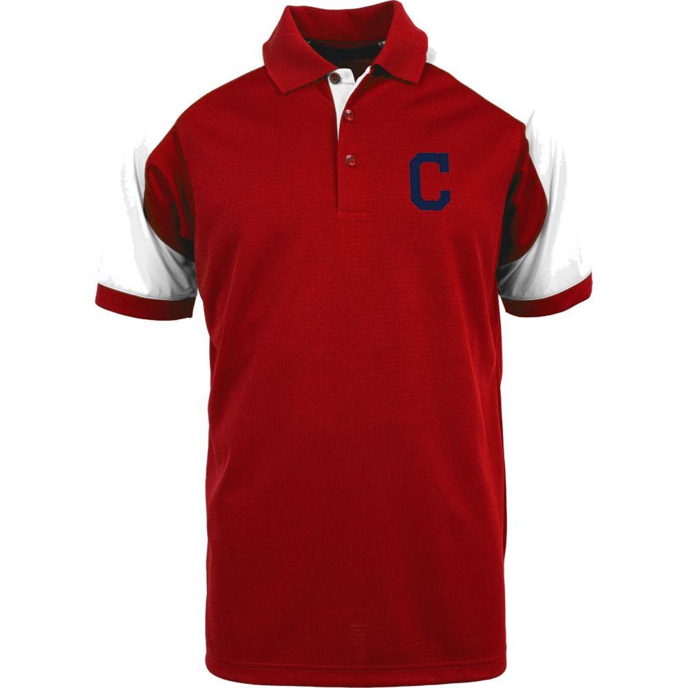 アンティグア Antigua メンズ ポロシャツ トップス【Cleveland Indians Century Red/White Polo】