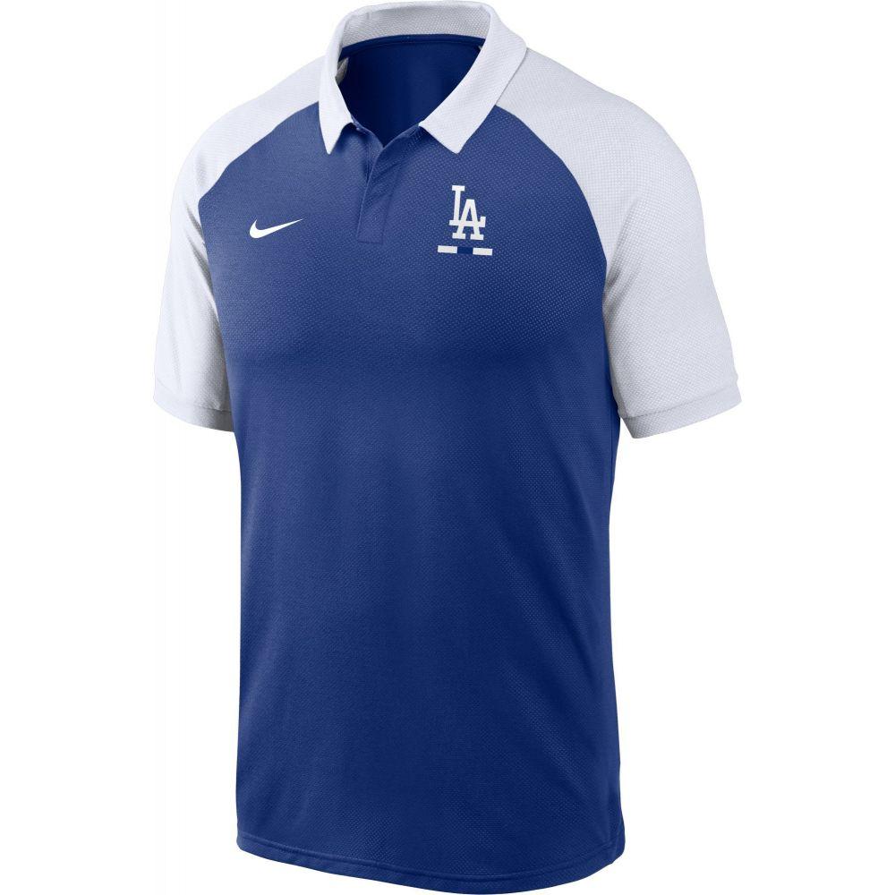 ナイキ Nike メンズ ポロシャツ ラグラン トップス【Los Angeles Dodgers Blue Dri-FIT Legacy Raglan Polo】