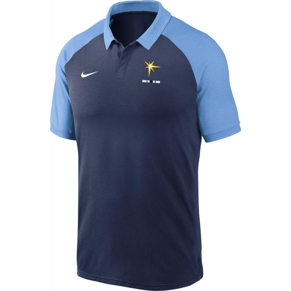 ナイキ Nike メンズ ポロシャツ ラグラン トップス【Tampa Bay Rays Navy Dri-FIT Legacy Raglan Polo】