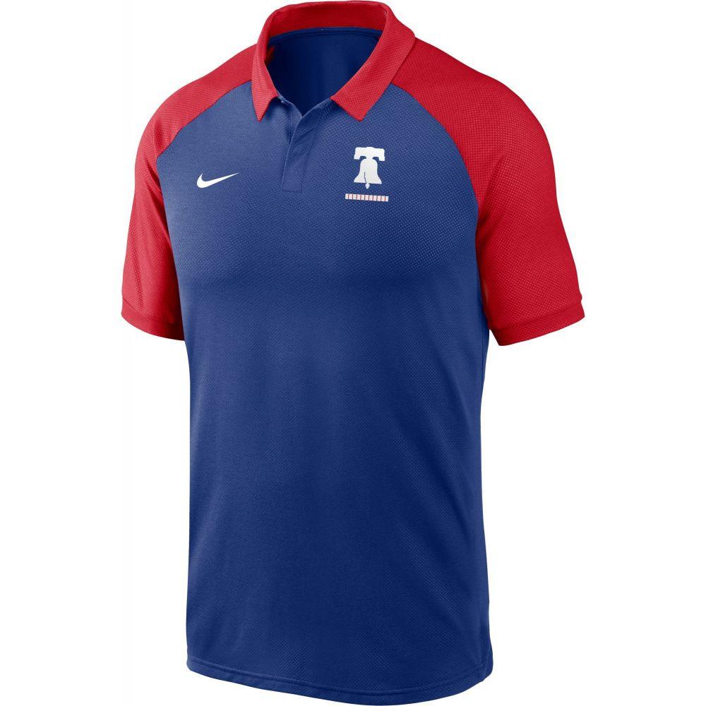 ナイキ Nike メンズ ポロシャツ ラグラン トップス【Philadelphia Phillies Blue Dri-FIT Legacy Raglan Polo】