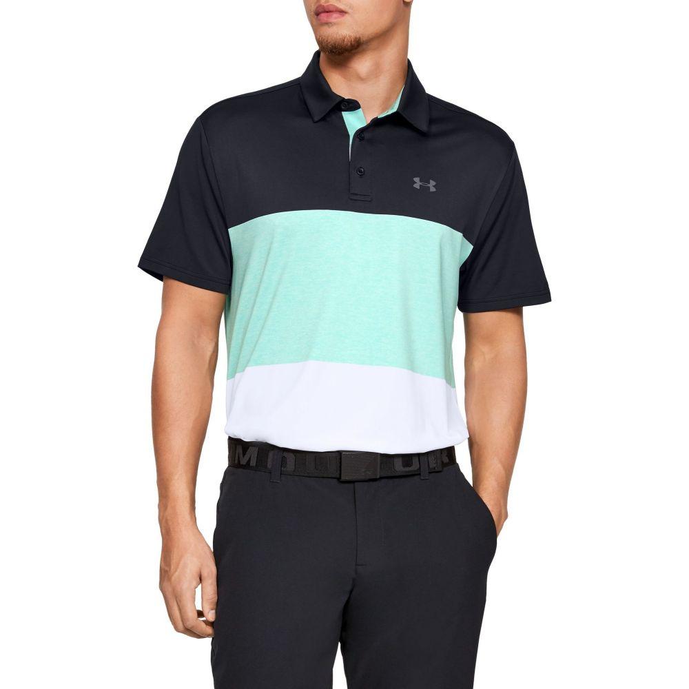 アンダーアーマー Under Armour メンズ ゴルフ ポロシャツ トップス【Playoff 2.0 Heritage Golf Polo】Black/Pitch Gray