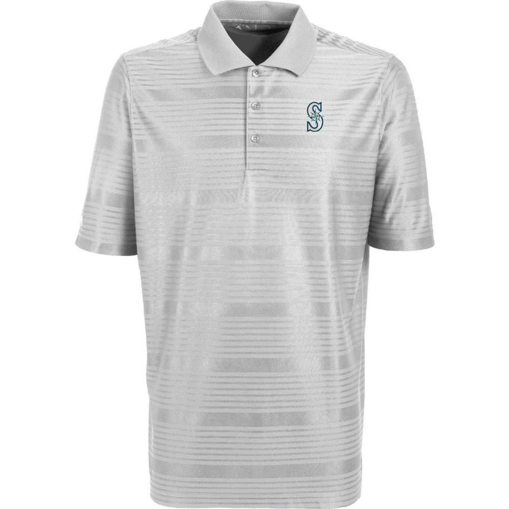 アンティグア Antigua メンズ ポロシャツ トップス【Seattle Mariners Illusion White Striped Performance Polo】