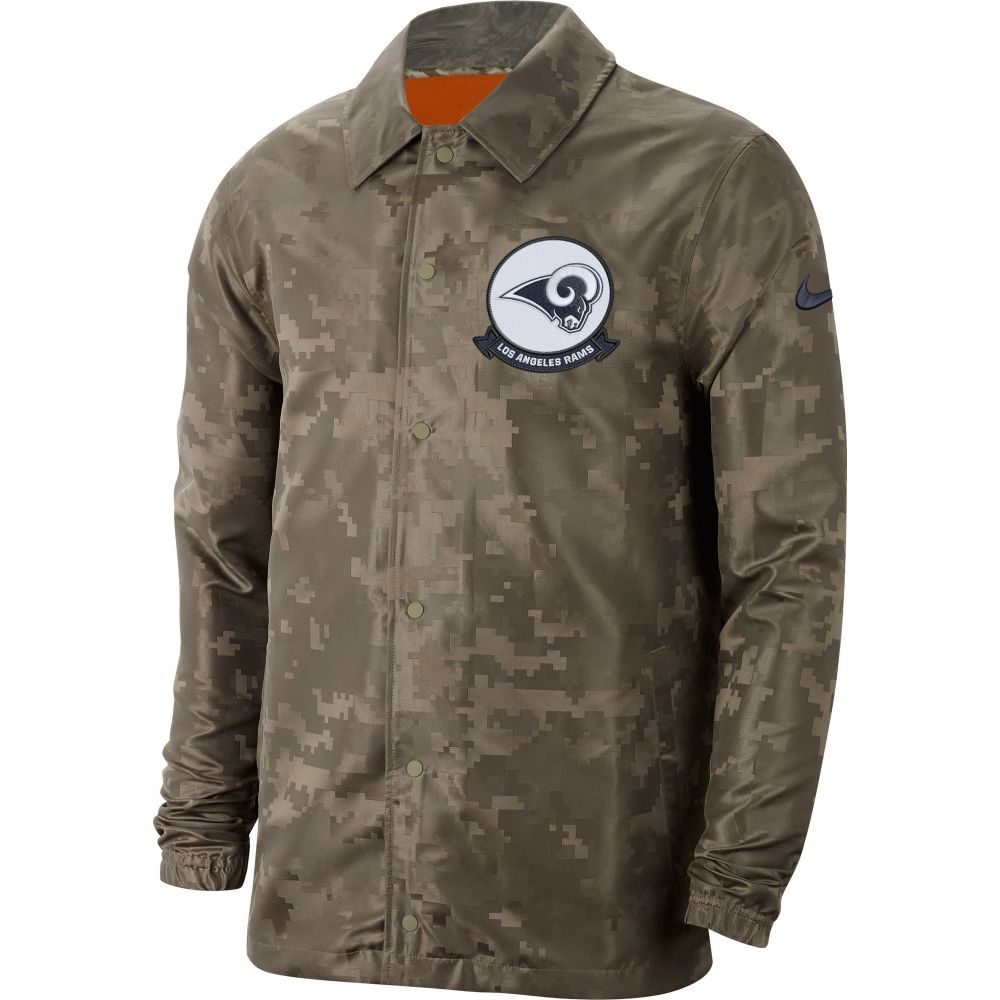 ナイキ Nike メンズ ジャケット アウター【Salute to Service Los Angeles Rams Olive Lightweight Camo Jacket】