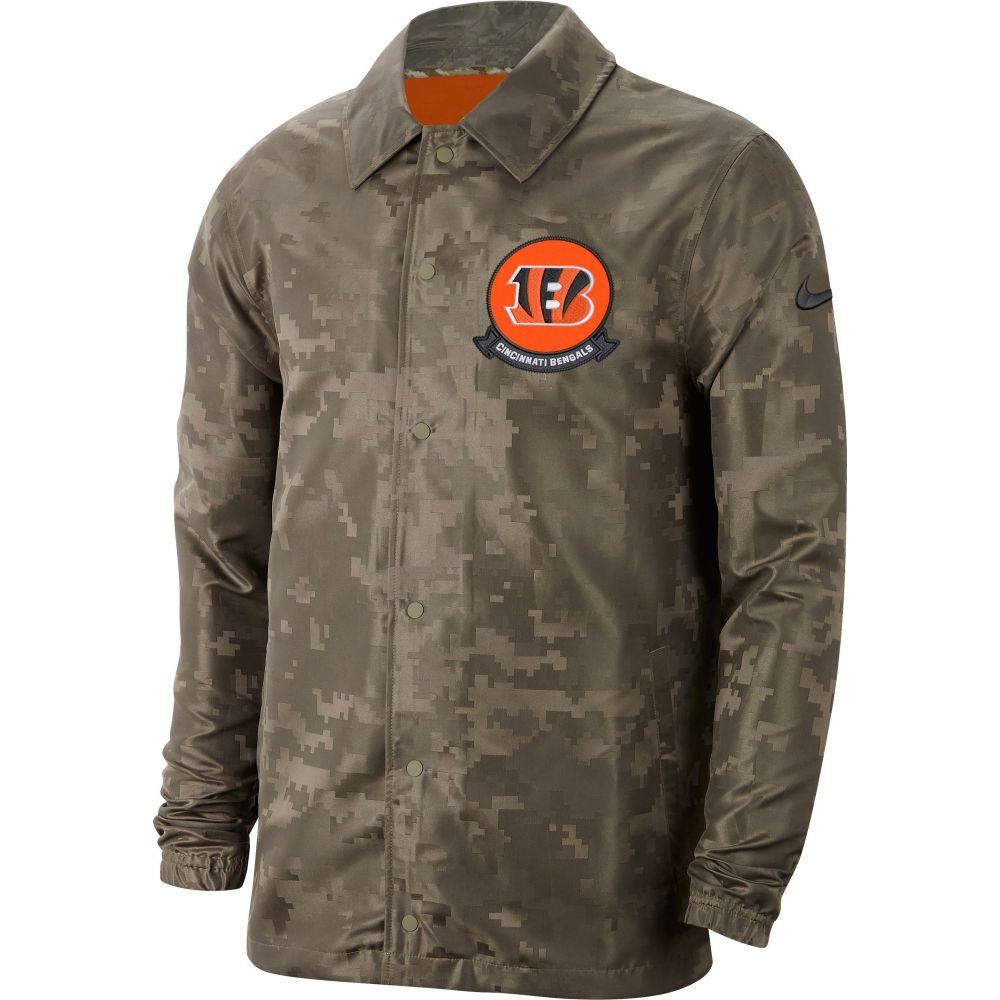 ナイキ Nike メンズ ジャケット アウター【Salute to Service Cincinnati Bengals Olive Lightweight Camo Jacket】