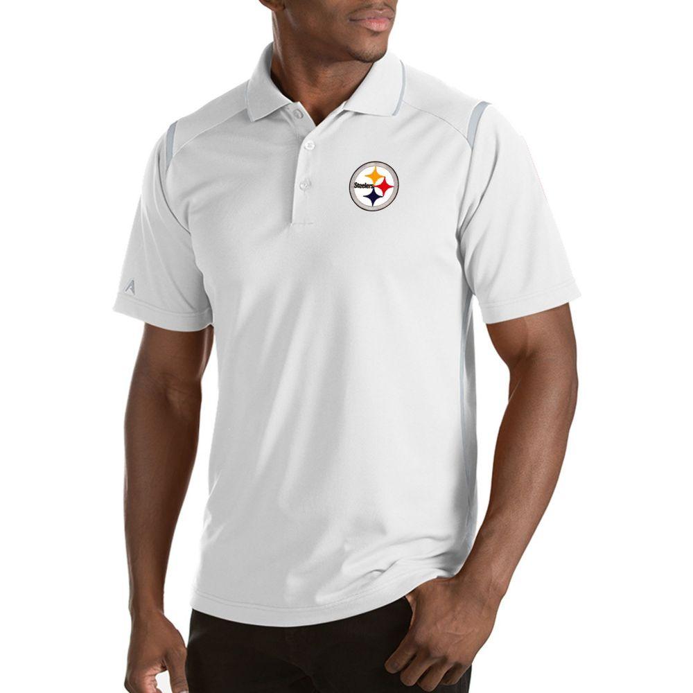 アンティグア Antigua メンズ ポロシャツ トップス【Pittsburgh Steelers Merit White Xtra-Lite Polo】