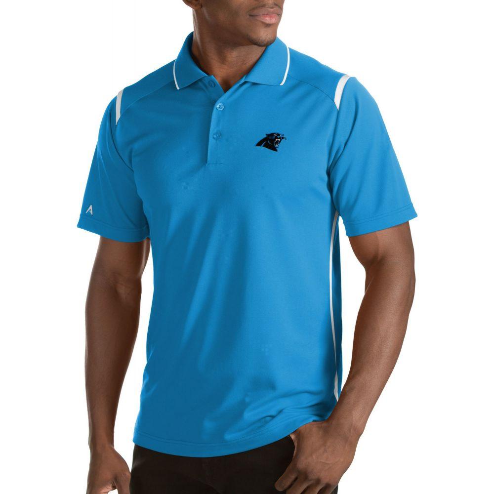 アンティグア Antigua メンズ ポロシャツ トップス【Carolina Panthers Merit Xtra-Lite Blue Polo】
