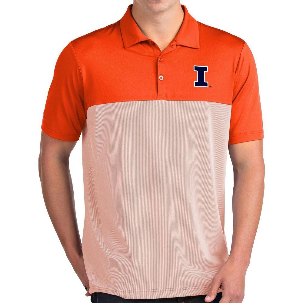 アンティグア Antigua メンズ ポロシャツ トップス【Illinois Fighting Illini Orange Venture Polo】